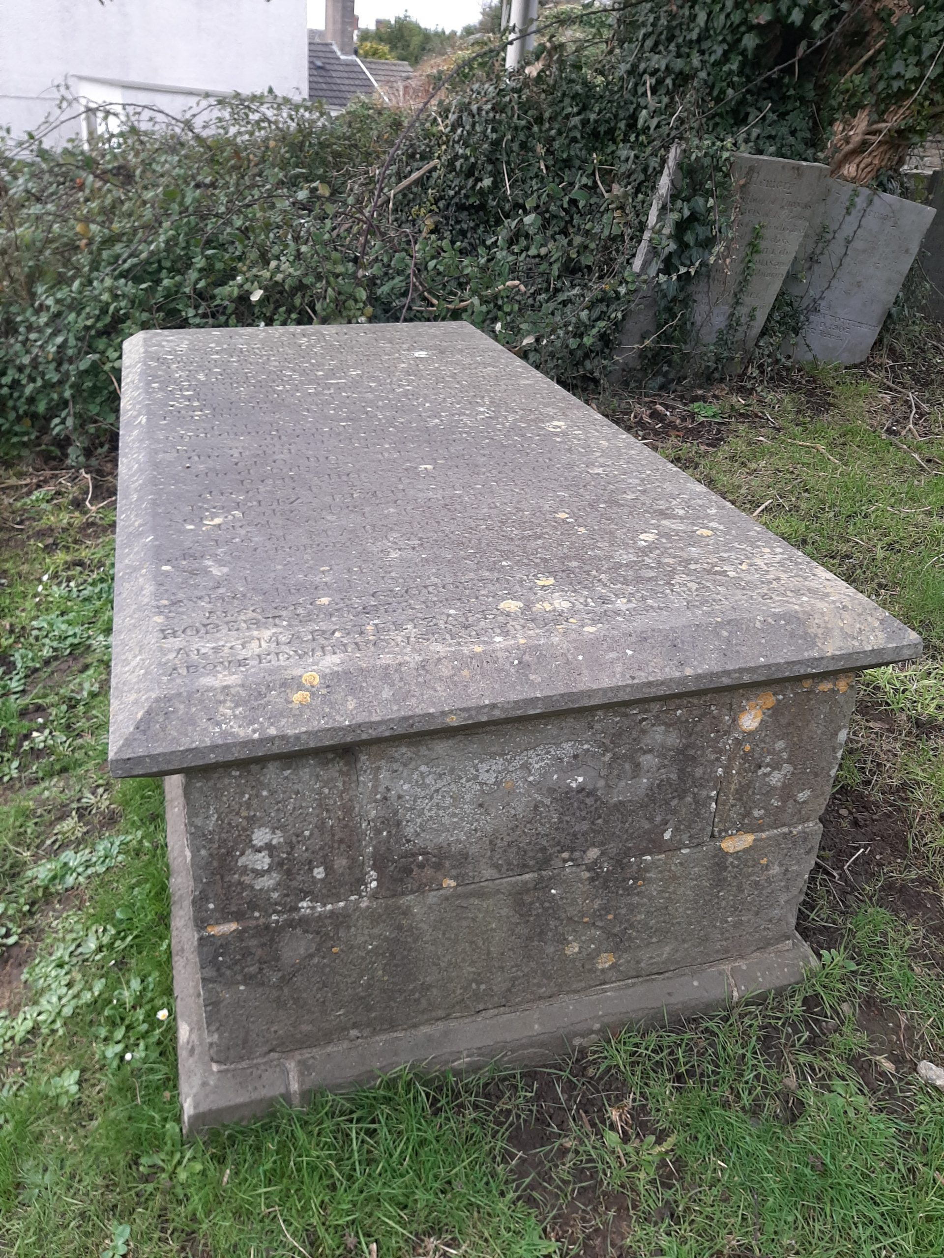 Grave of George Bowser Pembrey Church Photo - Graham Davies