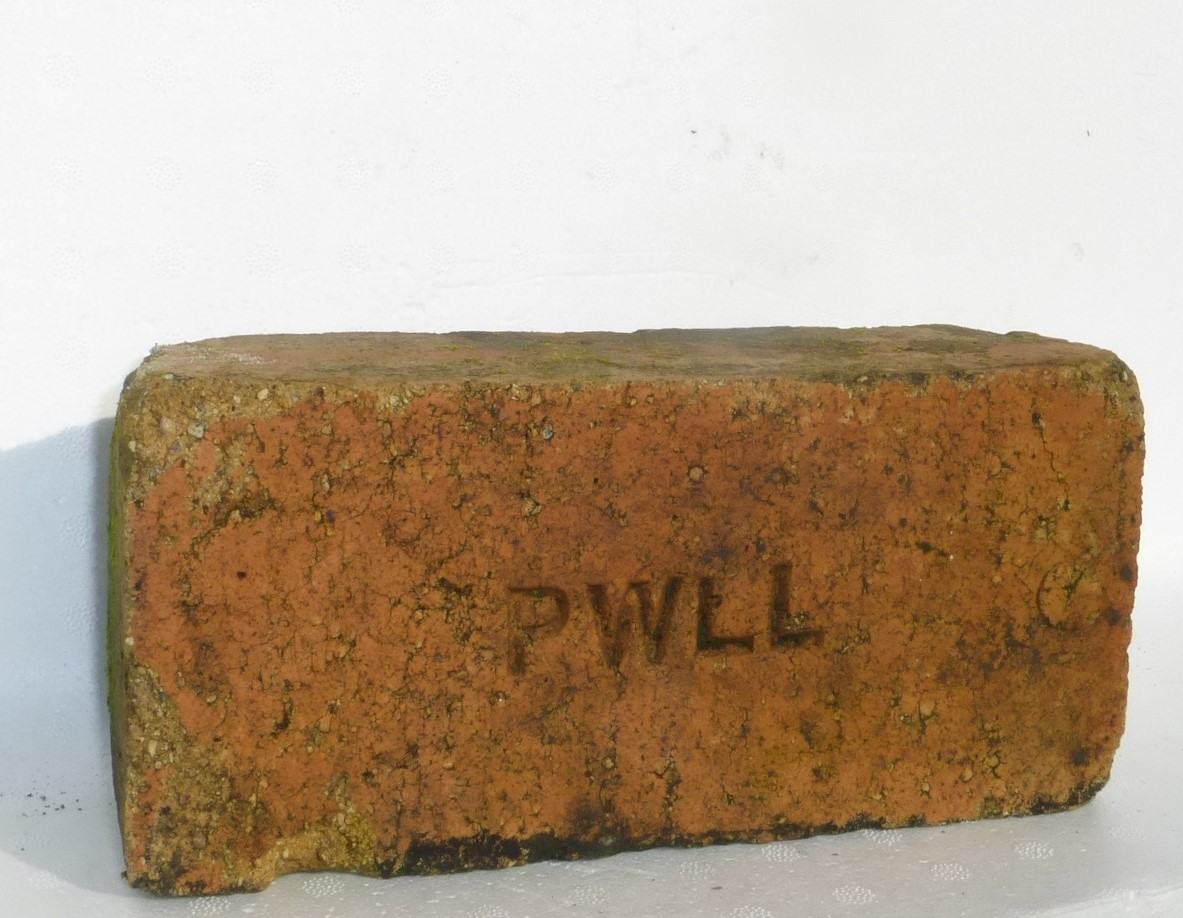 A brick from Pwll Brickworks. Courtesy Hugh Owen