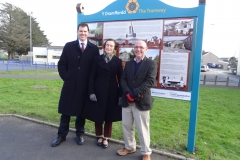 Lee Waters AM, Nia Griffith MP and Cllr Bob Walpole